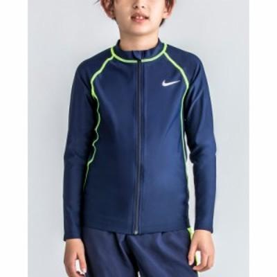 キッズ ラッシュガード 長袖 水着 ジュニア スイムウェア 男の子/ナイキ NIKE 子供用 120-170サイズ UVカット 紫外線対策 水泳 スイミン