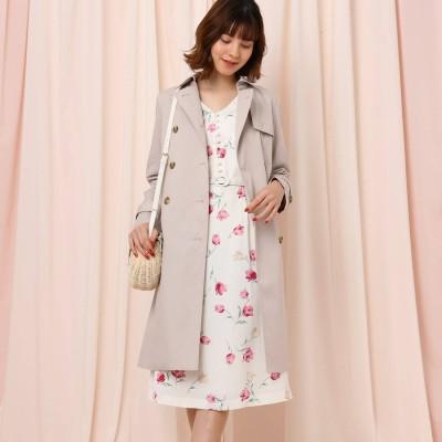 クチュール ブローチ Couture brooch 【WEB限定サイズ(LL)あり】ベルト付きトレンチコート (ベビーピンク)