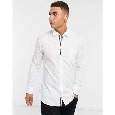 ヒューゴ ボス BOSS メンズ シャツ トップス Magneton Long Sleeve Shirt ホワイト