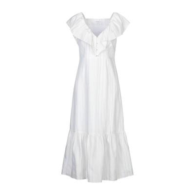 CLAUDIE PIERLOT 7分丈ワンピース・ドレス ホワイト 38 テンセル 78% / リネン 21% / ポリエステル 1% 7分丈ワンピ