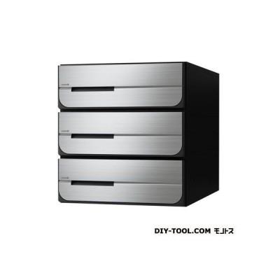 D-ALL ディーオール 集合郵便受箱(両側防滴仕様)前入後出 ステンレス ヘアーライン KS-MB5402PU-3L-S 0