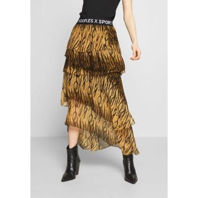 ザ・クープルス スカート レディース ボトムス JUPE - A-line skirt - brown