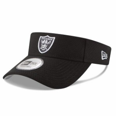 New Era ニュー エラ 帽子 バイザー New Era Oakland Raiders Black 2018 Training Camp Primary Visor