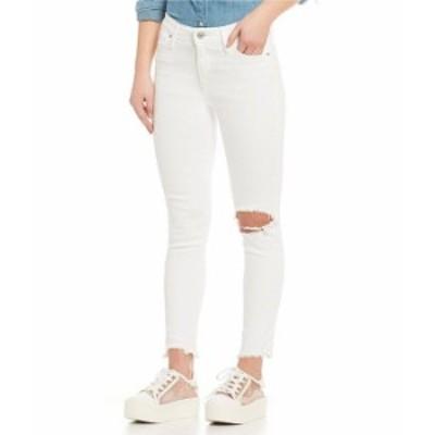 リーバイス レディース デニムパンツ ボトムス Levi'sR 721 White High Rise Destructed Frayed Ankle Skinny Jeans Iced Out