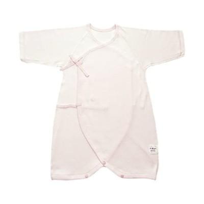 村信 ラ・モルフェ加工 スムース(厚手) コンビ肌着 80cm ピンク NL20048 日本製 (ピンク 80)
