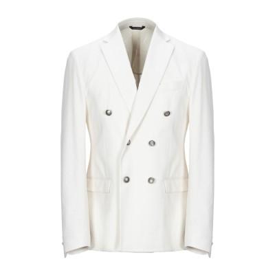 GAZZARRINI テーラードジャケット ホワイト 48 コットン 99% / ポリウレタン 1% テーラードジャケット