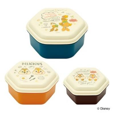 お弁当箱 シール容器 入れ子式 3個セット チップ&デール チップとデール キャラクター ( ランチボックス 保存容器 デザートケース 入れ