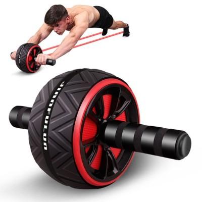 腹筋ローラー エクササイズローラー 筋トレ アブホイール 膝マット付き スリムトレーナー トレーニング アシスト機能