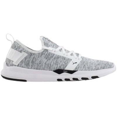 プーマ メンズ スニーカー シューズ IGNITE Contender Knit Running Shoes Puma White / Puma Black
