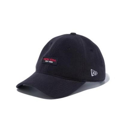 ニューエラ キャップ 帽子 メンズ レディース マイクロフリース 9THIRTY 無地 黒 NEW ERA シール クロスストラップ サイズ調節 カーブド