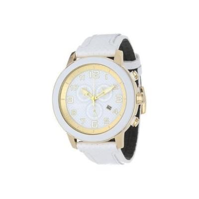 シチズン New Citizen エコドライブ AT2232-08A クロノグラフ ホワイト レザー ストラップ レディース 腕時計