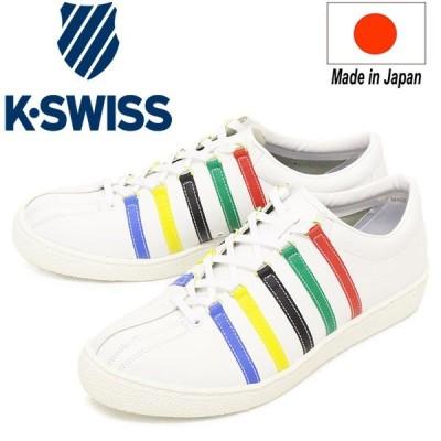 K-SWISS (ケースイス) 36100310 CLASSIC 66 JPN TYO クラシック メンズ レザースニーカー White/Multi KS068