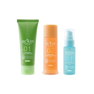 ネクア ボタニカルプラススキンケア 薬用アクネ洗顔3点セット オイリー混合肌セット ( 1セット )