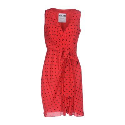 モスキーノ MOSCHINO ミニワンピース&ドレス レッド 38 シルク 100% ミニワンピース&ドレス