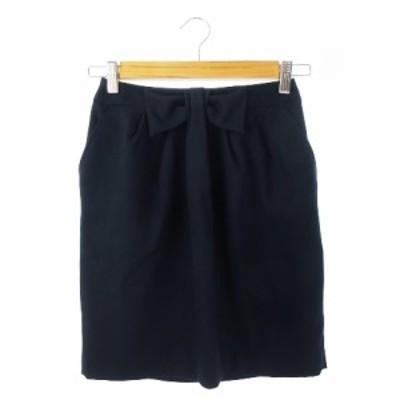 【中古】アクアガール オン ザ ストリート aquagirl ON THE STREET スカート タイト ミニ 34 濃紺 ネイビー /CK4