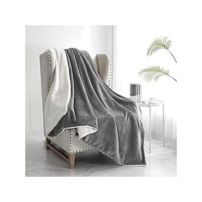 """特別価格Walensee Sherpa Fleece Blanket (Throw Size 50""""x60"""" Grey) Plush Throw Fuzzy 好評販売中"""