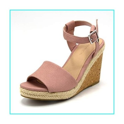 Nautica Women's Dovie Open Toe Platform Wedge High Heel Sandals-Blush-9