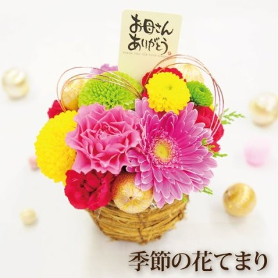 父の日 花 ギフト 花束 季節の花 てまりS 生花 アレンジ お花 女性 還暦祝い 誕生日 プレゼント 母 祖母 40代 50代 60代