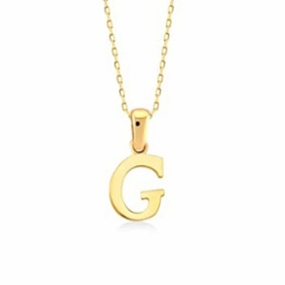 """GELIN 14k Solid Gold Handwriting Initial Letter Alphabet """"G"""" Pendant Necklace for Women"""