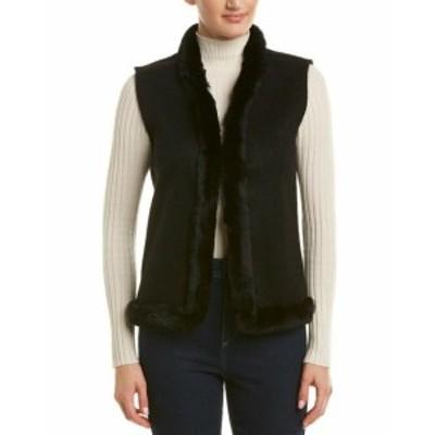 ファッション トップス J.Mclaughlin Cashmere Vest Xs Black