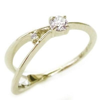 ゴールド K10 ダイヤモンド リング K10yg ダイヤ ピンキーリング