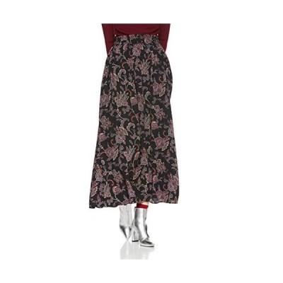[ロペピクニック] 【WEB限定】ペイズリー柄マキシスカート レディース GDC68170 ブラック 日本 40 (日本サイズL相当)