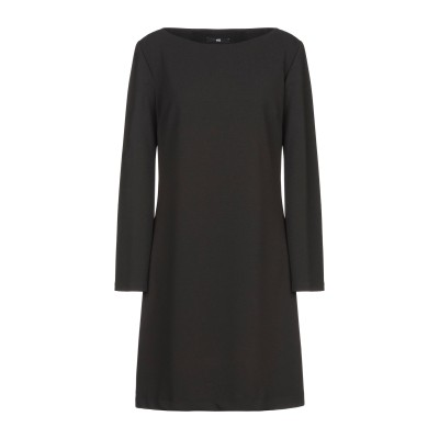 F.IT ミニワンピース&ドレス ブラック 38 ポリエステル 95% / ポリウレタン 5% ミニワンピース&ドレス