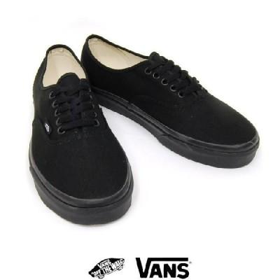 VANS / バンズAUTHENTIC オーセンティック キャンバス BLACK/BLACK