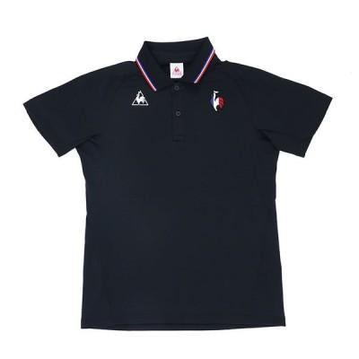 LECOQ 半袖 ポロシャツ メンズ スポーツ ルコック ブラック 吸汗速乾 紫外線防止 カジュアル QMMRJA43