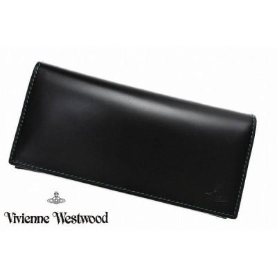 ヴィヴィアン ウエストウッド 長財布 財布 メンズ ブランド Vivienne Westwood インサイド アーガイル プリント ブラック 黒 専用箱付 男性 紳士 本革