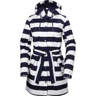 ヘリーハンセン レディース ジャケット・ブルゾン アウター Helly Hansen Women's Lyness II Coat STRIPE EVENING BLUE