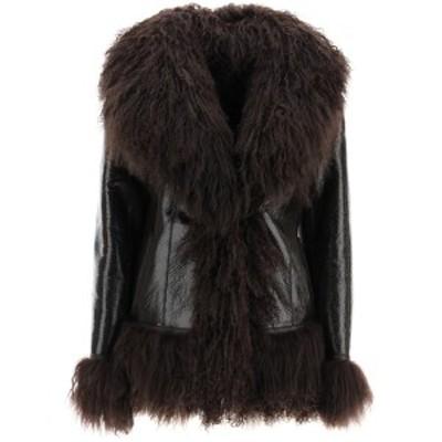 SAKS POTTS/サックス ポッツ Brown Saks potts shearling coat with fur レディース 春夏2021 BON ik