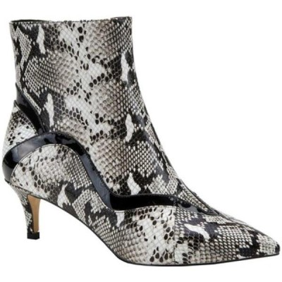アズーラ ブーツ&レインブーツ シューズ レディース Gurly Pointed Toe Bootie (Women's) Bone Python Print Leather/Patent