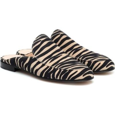 ジャンヴィト ロッシ Gianvito Rossi レディース サンダル・ミュール シューズ・靴 palau zebra-print suede mules Mousse Zebra Print
