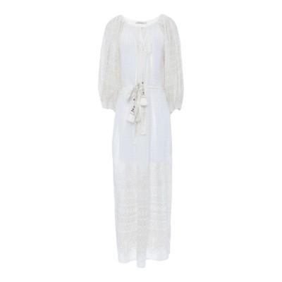 MES DEMOISELLES ロングワンピース&ドレス ホワイト 34 コットン 100% ロングワンピース&ドレス
