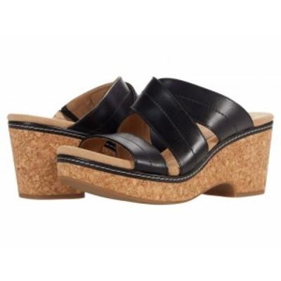 Clarks クラークス レディース 女性用 シューズ 靴 ヒール Giselle Tide Black Leather【送料無料】