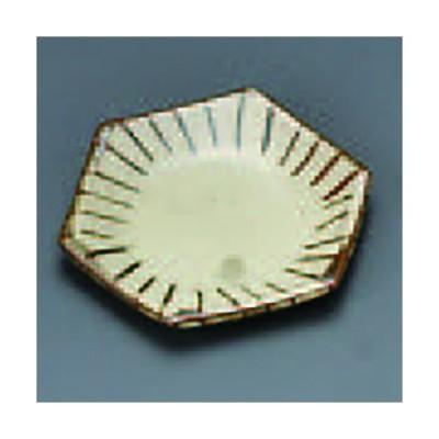 焼しめ六角小皿十草(手造り) 333-19-084