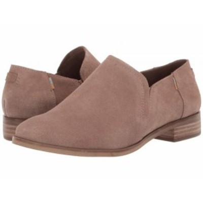 TOMS トムス レディース 女性用 シューズ 靴 ローファー ボートシューズ Shaye Low Taupe Gray Suede【送料無料】
