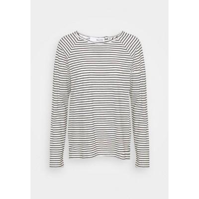 セレクテッドフェム カットソー レディース トップス SLFBELIVE TEE - Long sleeved top - black/snow white