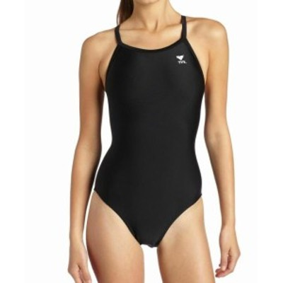 tyr ティア スポーツ用品 スイミング TYR Womens Swimwear Deep Black Size 30 One-Piece Open-Back Solid