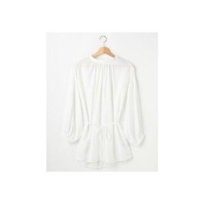 アラマンダ allamanda 前後2WAYリボンシャツ (オフホワイト)