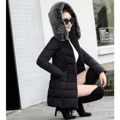 中綿ダウンジャケット レディース 冬服 スリム ダウンジャケット ロングコート ダウンコート 厚手 暖かい アウター 防風 防寒