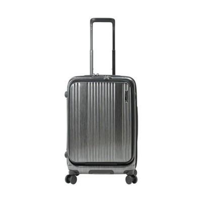 バーマス(BERMAS) キャリーケース インターシティ INTERCITY フロントオープン56C ブラックヘアライン 60501 71 ビジネスキャリー スーツケース ハードケース