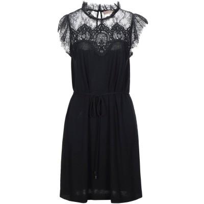 ツインセット シモーナ バルビエリ TWINSET ミニワンピース&ドレス ブラック XS コットン 50% / レーヨン 50% / ナイロン /