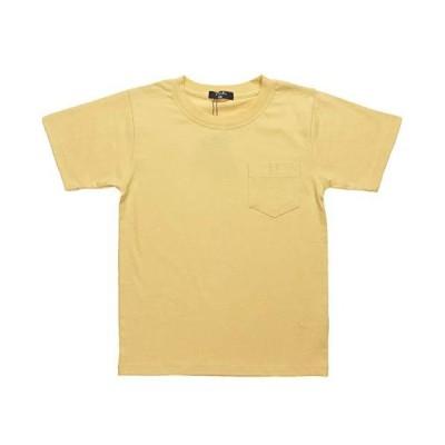 [ナーナッド ] 1420309 無地 ポケット付 名札穴つき Tシャツ 半袖 キッズ 子供服 男女兼用 男の子 女の子 イエロー 120