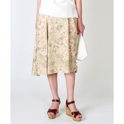 スカート 花柄サーキュラースカート