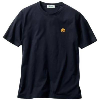 吸汗速乾機能付き 綿混半袖Tシャツ(ロゴス)/ネイビー/M