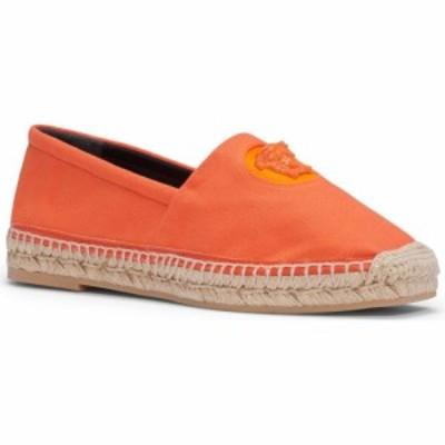 ヴェルサーチ VERSACE レディース エスパドリーユ スリッポン・フラット シューズ・靴 Medusa Head Espadrille Flat Tangerine