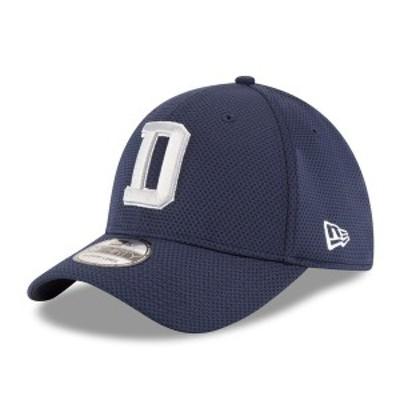 ニューエラ メンズ 帽子 アクセサリー Dallas Cowboys New Era Sideline Official Tech 39THIRTY Flex Hat Navy