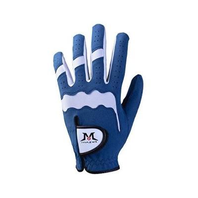 MAZEL プレミアム メンズ ゴルフグローブ 左手用 暑い雨 吸汗性 サイズS M L XL  ブルー XL